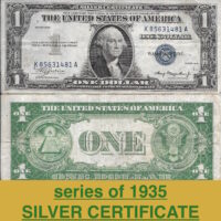 1935 $1 silver certficate