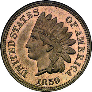 1859 Small Cent Indian Head