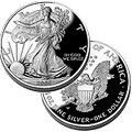 *PROOF* Silver Eagle 1oz. *PROOF*w/box&COA, PF69, & PF70