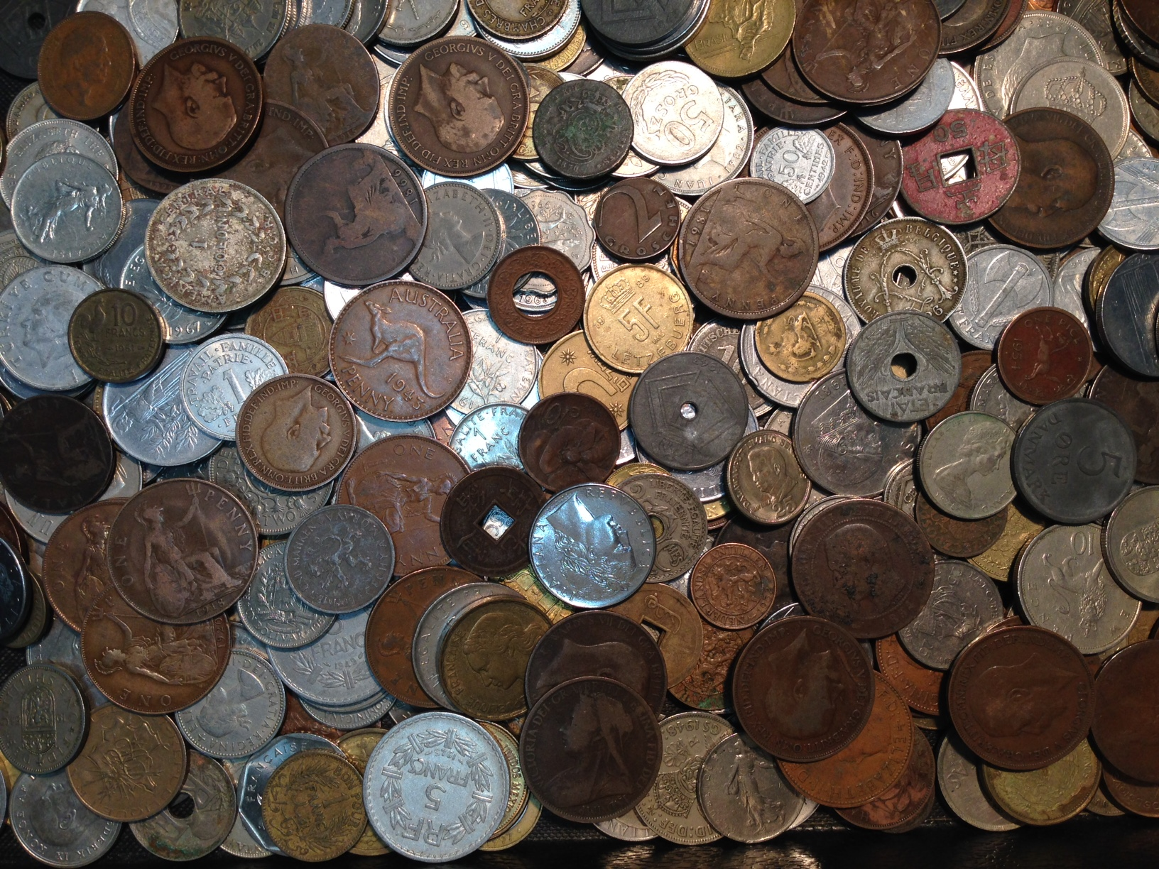 1 lb  of **World Coins** Lot#1