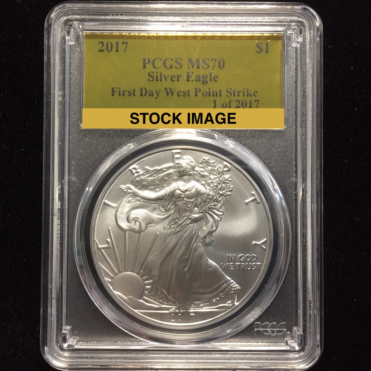 American Silver Eagle PCGS MS70 First Strike -Struck at West Point 2012-W